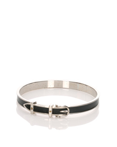 Hermes Enamel Bangle Silver