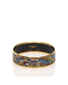 Hermes Enamel Gm Bangle Blue