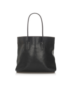 Prada Perforated Leather Tote Bag Black
