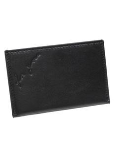 Ysl Leather Card Holder Black