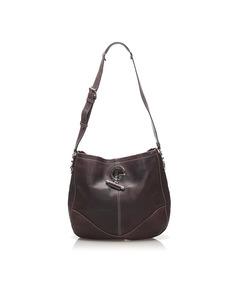 Gucci Charlotte Leather Shoulder Bag Purple
