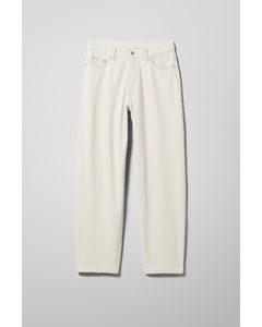 Rail Jeans mit mittelhohem Bund und geradem Bein Glänzend grau