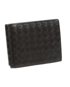 Bottega Veneta Intrecciato Leather Bifold Wallet Black