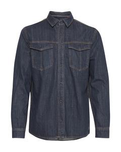 Shirt 20708891 Denim Unwashed Dark Blue