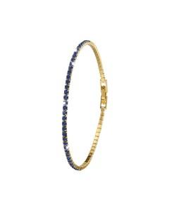 Vergoldetes Armband mit Montana-Kristallen