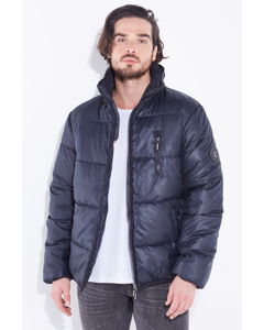 Quilted Down Jacket Baker Navy Blue
