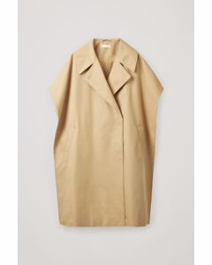 Organic Cotton-Mix Trench Cape Camel