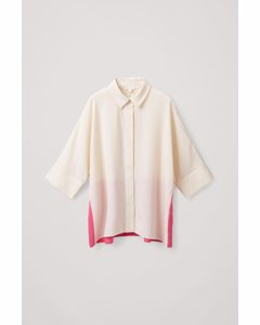 WIDE COLOUR-BLOCK SHIRT off-white / pink
