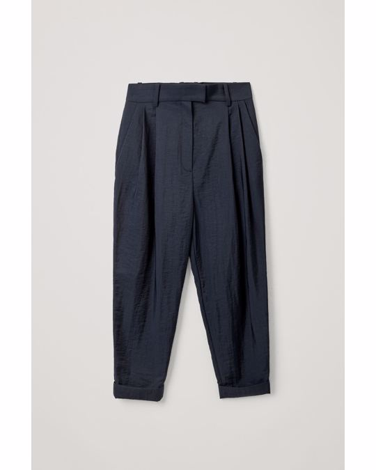 COS Soft Trousers Blue