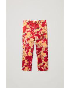 Printed Trousers Orange