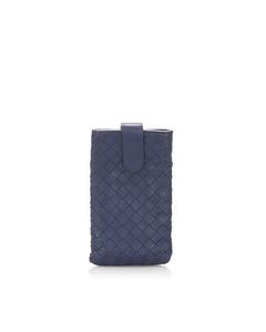 Bottega Veneta Intrecciato Phone Case Blue