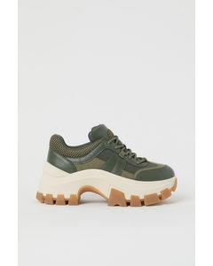 Chunky Sneakers Mörk Khakigrön