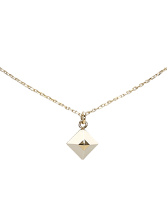 Hermes Pyramid Pendant Necklace Gold