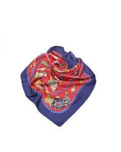 Hermes Pourvu Quon Ait Livresse Silk Scarf Blue