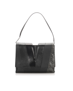 Jil Sander Leather Shoulder Bag Black