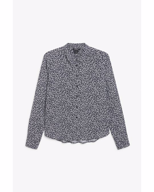 Monki Classic button-up blouse Ditsy floral