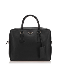 Prada Saffianobusiness Bag Black