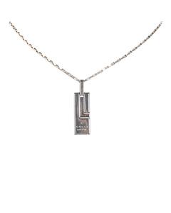 Gucci Silver-tone Pendant Necklace Silver