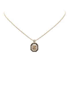 Dior Rhinestone Necklace Silver