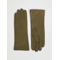 WIDE LEATHER GLOVES khaki green