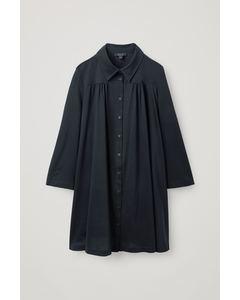 A-Line Shirt Dress Navy