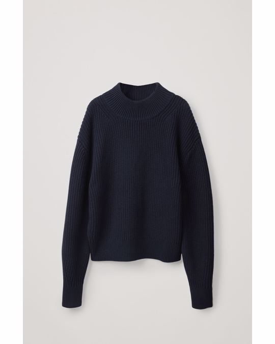 COS Knitted Sweater Blue