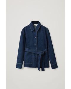 Belted Jacket Blue