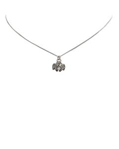 Dior Heart Logo Necklace Silver