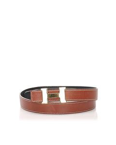 Hermes Constance Leather Belt Brown