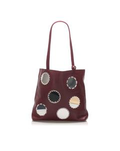 Prada Mirror Tote Bag Red
