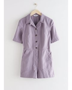 Short Workwear Boilersuit Lilac