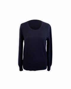 Malo Navy Blue Cashmere Knit Jumper Sweater Size 44
