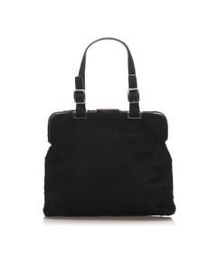 Prada Harako Frame Handbag Black