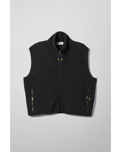 Malaya Fleece Vest Black