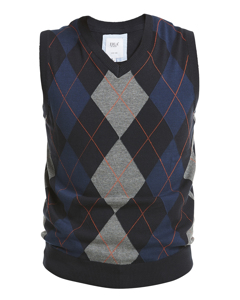 Argyle Slipover V-neck Multicolor