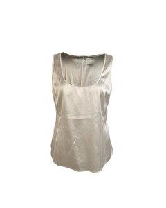 Armani Collezioni Vintage White Silk Sleeveless Tank Top Size 42