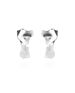 Rock Earrings Silver