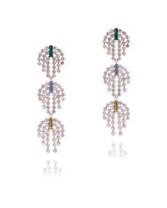 Deco Earrings Silver
