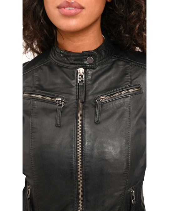 Logan soul Biker Style Short Leather Jacket