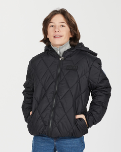 K. Quilted Hood Jacket Green Leo