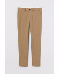 Chinos I Bomull Skinny Fit Beige
