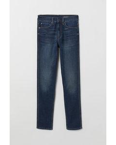 Tech Stretch Slim Jeans Denimblauw