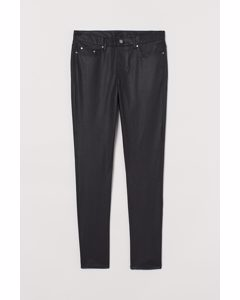 Skinny Jeans Schwarz/Coating