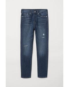 Tapered Jeans Blau