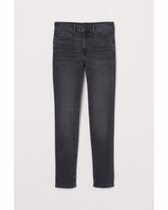 Skinny Jeans Schwarz Washed out