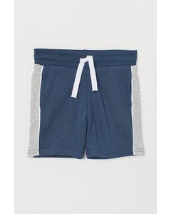 Sweatshort Blauw/lichtgrijs