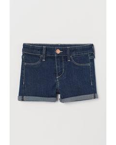 Jeansshorts Mörk Denimblå