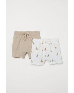 Set Van 2 Tricot Shorts Beige/giraffen