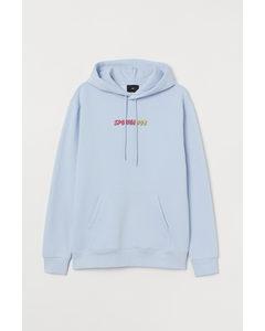 Capuchonsweater - Regular Fit Lichtblauw/spongebob