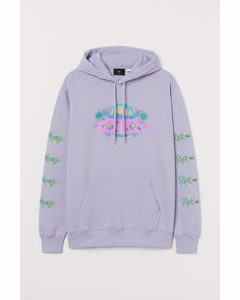 Hoodie Regular Fit Helllila/Rick and Morty
